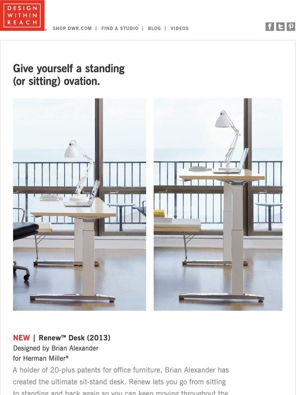 Design within reach the smartest sit stand desk ever milled for Design within reach desk