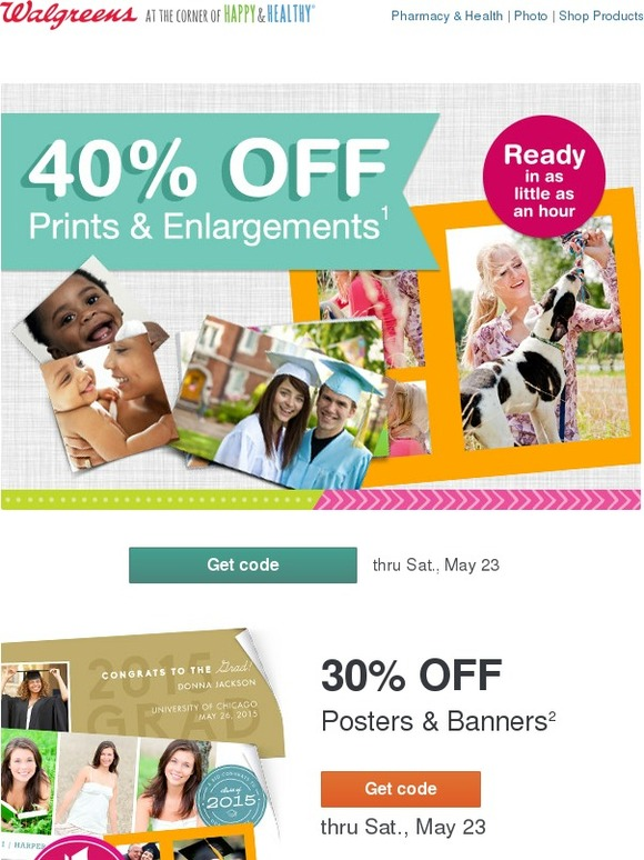 walgreens theres still time get 40 off prints 30