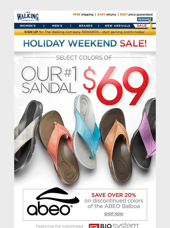 06c1689fa5 The Walking Company: Our #1 Sandal - Only $69 | Holiday Weekend Sale! |  Milled