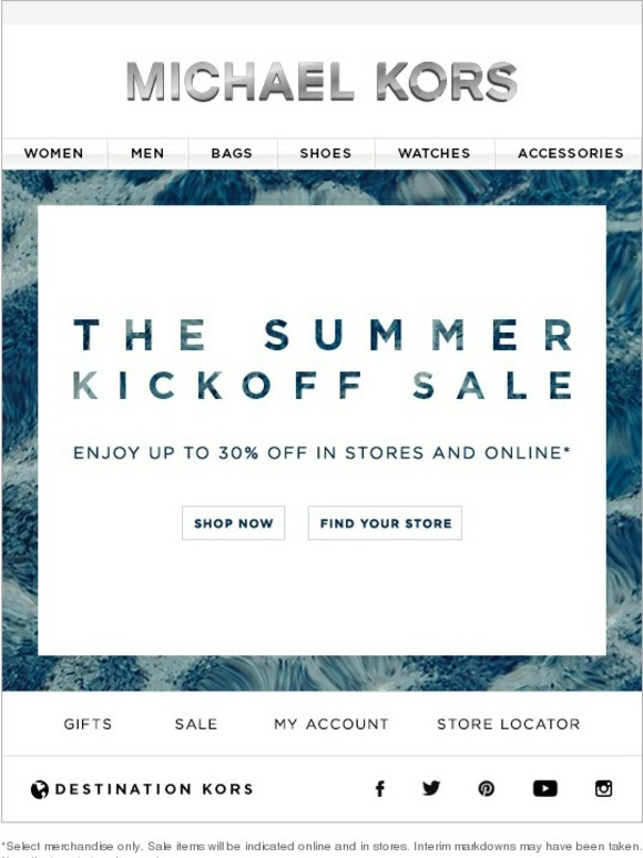 Michael Kors The Summer Kickoff Sale Enjoy Up To 30 Off
