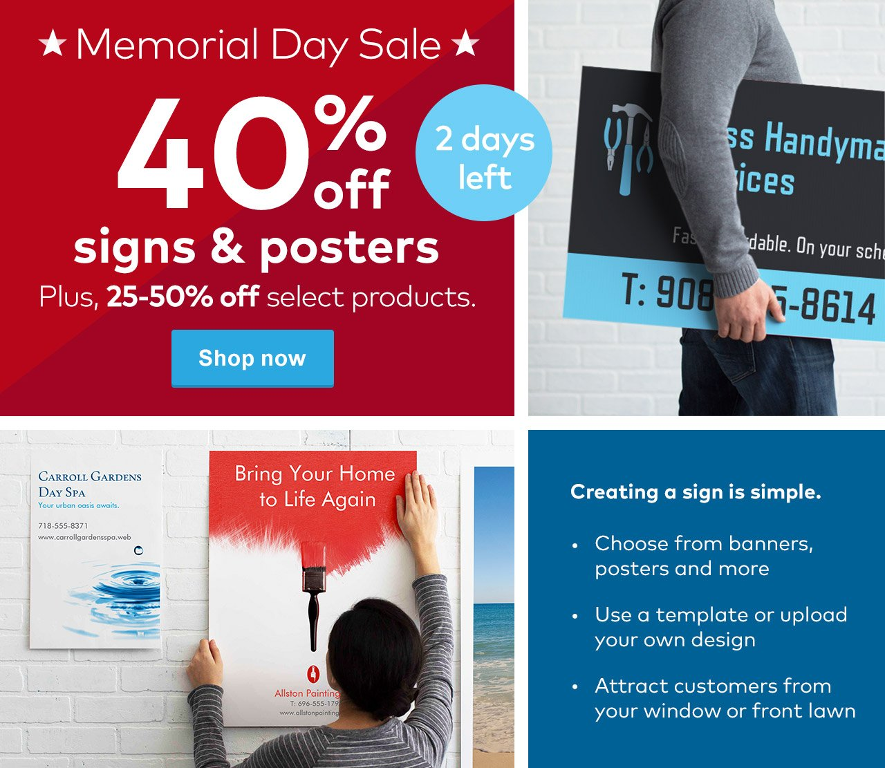 Vistaprint Days Left For The Memorial Day Sale Save While You - Vistaprint banner template