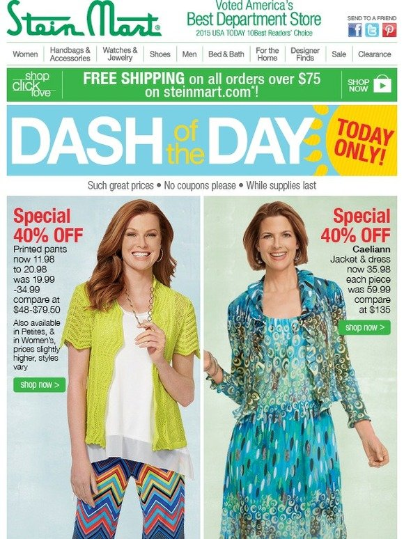 32132ae2199 Stein Mart: DASH of the DAY! Printed pants, on trend & 40% off | Milled
