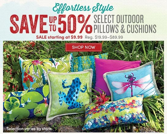 Save Up To 50% On Select Outdoor Pillows U0026 Cushions