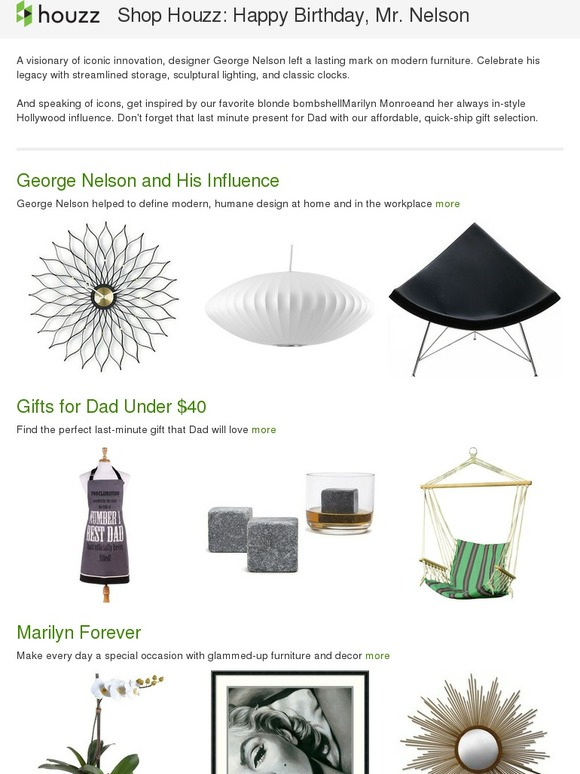 Houzz Shop Houzz Gifts For Dad Under 40 George Nelson