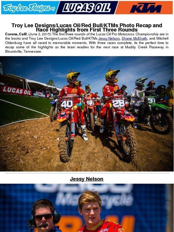 Troy Lee Designs: Troy Lee Designs/Lucas Oil/Red Bull/KTM's
