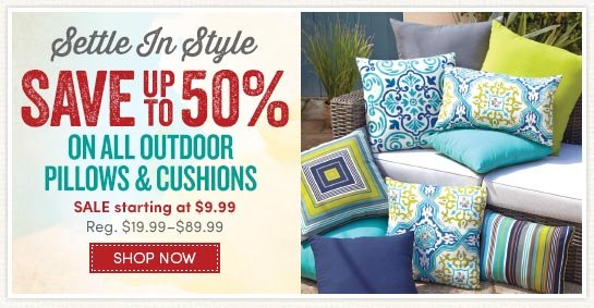 Save Up To 50% On Outdoor Pillows U0026 Cushions