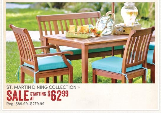 Save 30% on St. Martin Dining Collection
