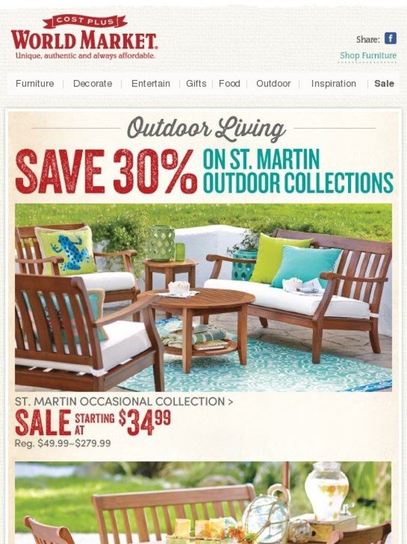 Cost Plus World Market 30 Off St Martin Outdoor