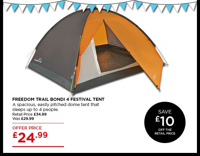 Freedom Trail Bondi 4  sc 1 st  Milled & Go Outdoors: Save up to 40% off festival tents | Great festival ...