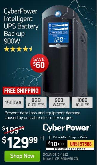TigerDirect: CyberPower $129 Storm Season Exclusive! 900W
