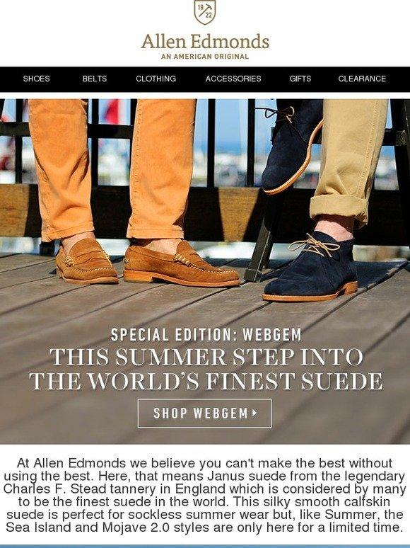60e7766d32c Allen Edmonds  This Summer Step Into the World s Finest Suede