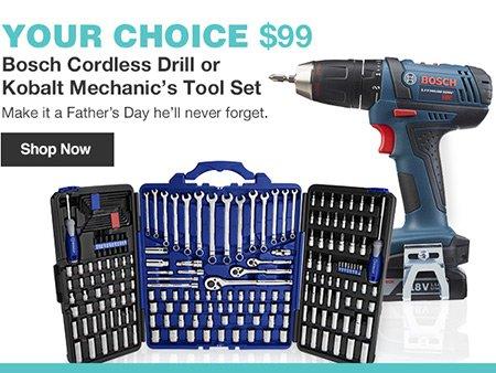 Lowes 99 Bosch Cordless Drill Or Kobalt Mechanic S Tool