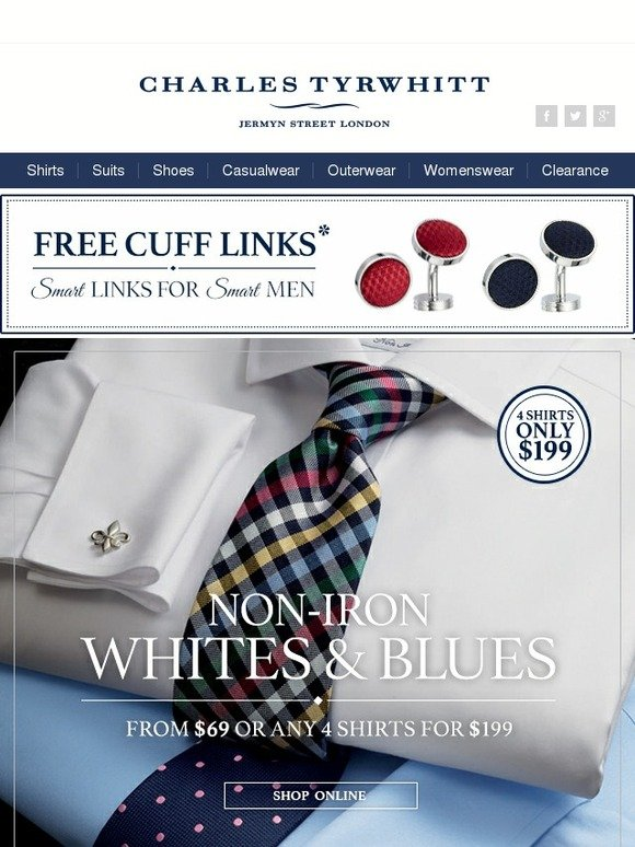 Charles Tyrwhitt The Finest Non Iron Shirts In The World