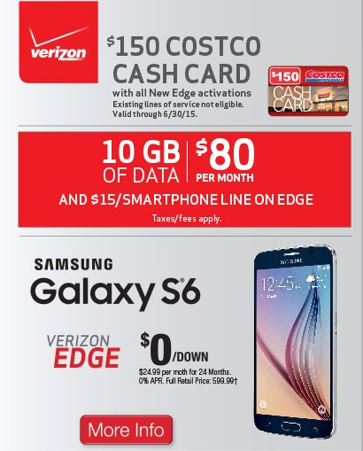 Costo: Father's Day Specials On Samsung Galaxy S 6