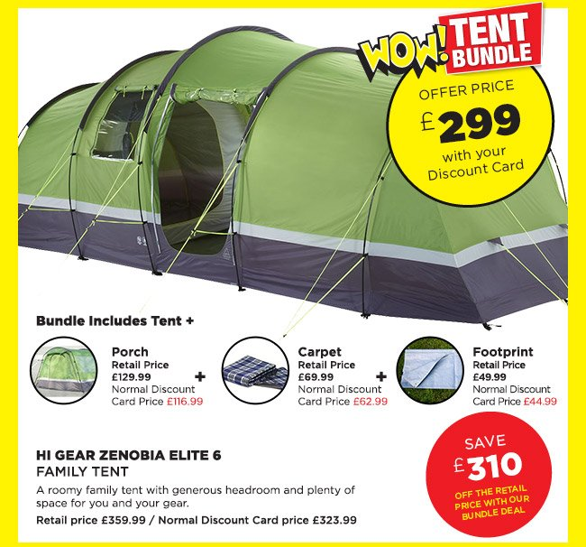 Hi Gear Zenobia Elite 6 Family Tent Bundle Deal  sc 1 st  Milled & Go Outdoors: Wow Deals ending midnight tomorrow. Hi Gear Zenobia ...