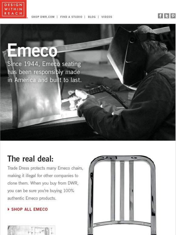 Design Within Reach The Real Deal Authentic Emeco Chairs Milled