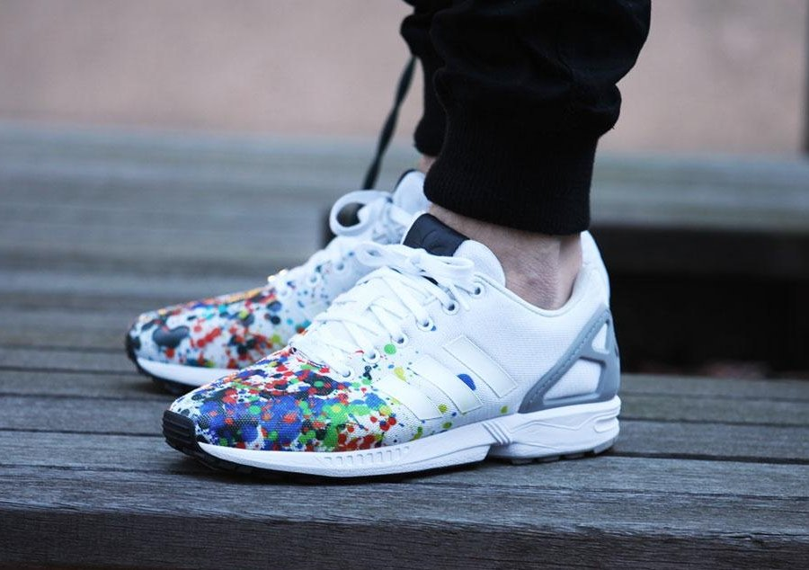 Adidas Flux Black And White Palm Trees