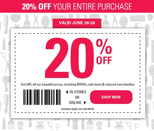 How to use a Sally Beauty Supply coupon By enrolling in Sally Beauty Supply's Loyalty Program (free after $5 coupon credit), you will receive lots of members-only deals, free products and a chance to earn points that can be redeemed for furture discounts%().