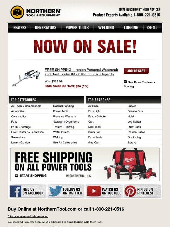 Northerntool Com Now On Sale Free Shipping Ironton
