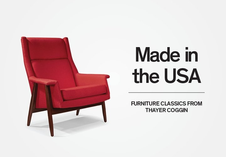 Dwell: American Made Furniture From Thayer Coggin   Milled