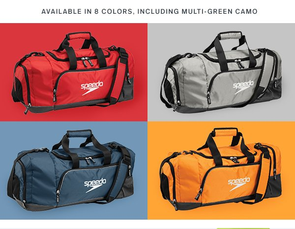 27d2beaf5b Offer valid 7 7 2015 until 11 59pm PST at SpeedoUSA.com or by calling  1-888-477-3336. Receive  20 off the Speedo Teamster Duffle (38L)