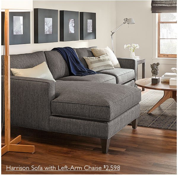 Superbe Harrison Sofa With Left Arm Chaise $2,598