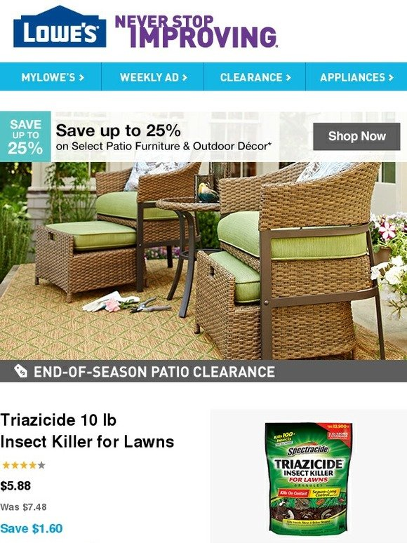 Lowes: Save Up To 25% On Select Patio Furniture U0026 Outdoor Decor | Milled