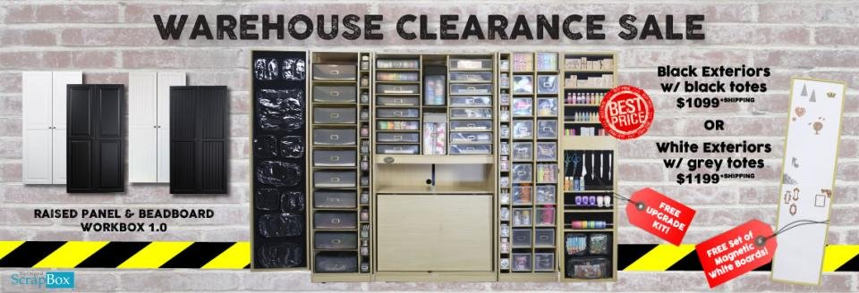 the original scrapbox warehouse clearance sale workbox 1. Black Bedroom Furniture Sets. Home Design Ideas