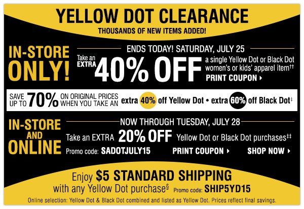 graphic regarding Bon Ton Printable Coupon named Herbergers yellow dot printable coupon : Newark prudential
