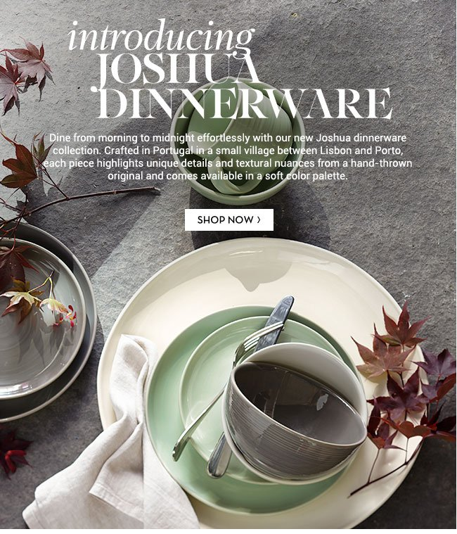 Pottery Barn Introducing Our NEW Joshua Dinnerware Collection - distinctive and hand-crafted! | Milled & Pottery Barn: Introducing Our NEW Joshua Dinnerware Collection ...