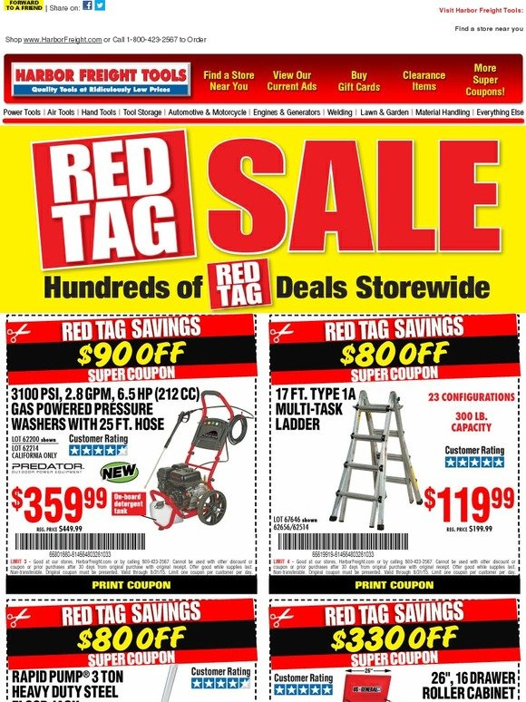 Take a look at our 2 Red Tag coupons including 1 sale, and 1 free shipping promo code. Most popular now: Check Out Daily Deals and Sales for Huge Discount. Latest offer: Check Out Daily Deals and Sales for Huge Discount.