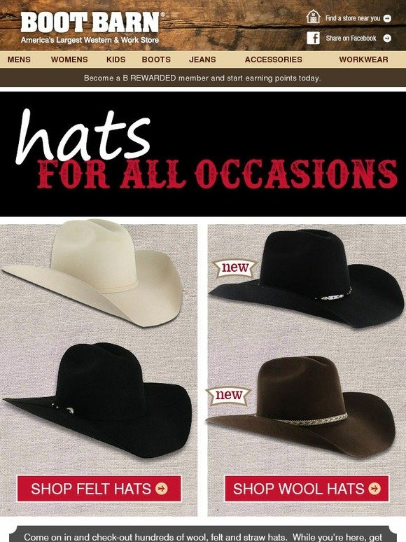 f0790e4f20694 BootBarn.com  Hats - New Styles Fall Preview