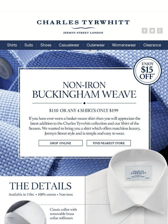 Charles Tyrwhitt Weave All About It Our Shirt Of The