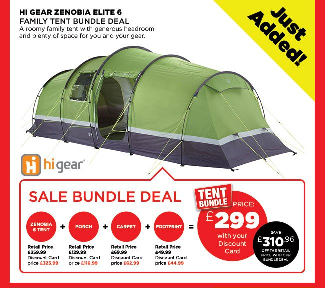 go outdoors sale more tents just added hi gear zenobia. Black Bedroom Furniture Sets. Home Design Ideas