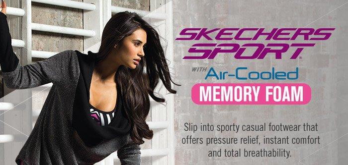 skechers sport air cooled memory foam