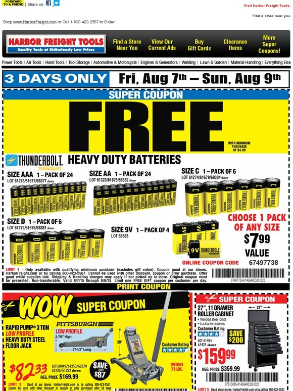 Harbor freight coupons free batteries 2018