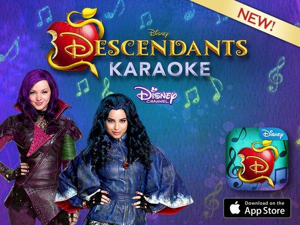 Disney Store: NEW Disney Descendants Karaoke App!   Milled