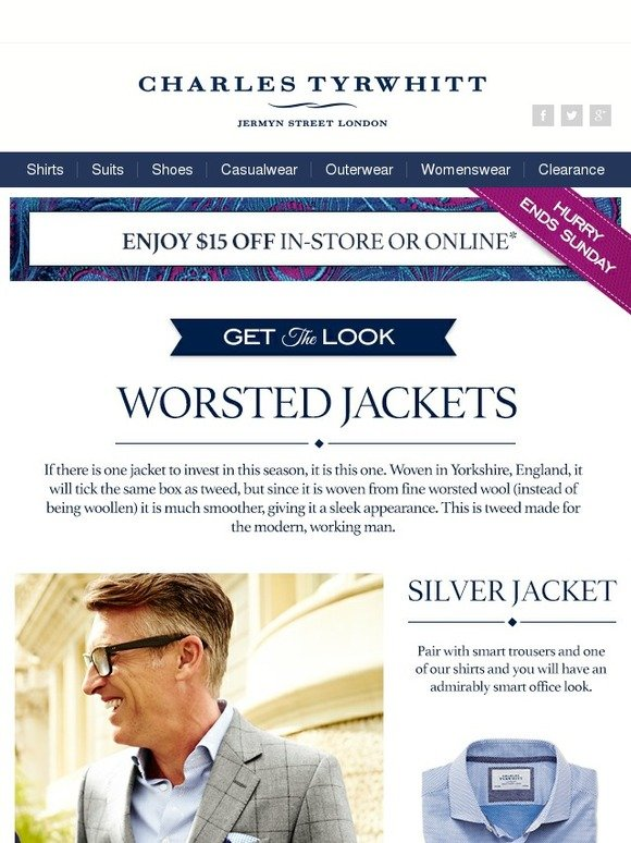 Charles Tyrwhitt Checking In With Our Product Of The