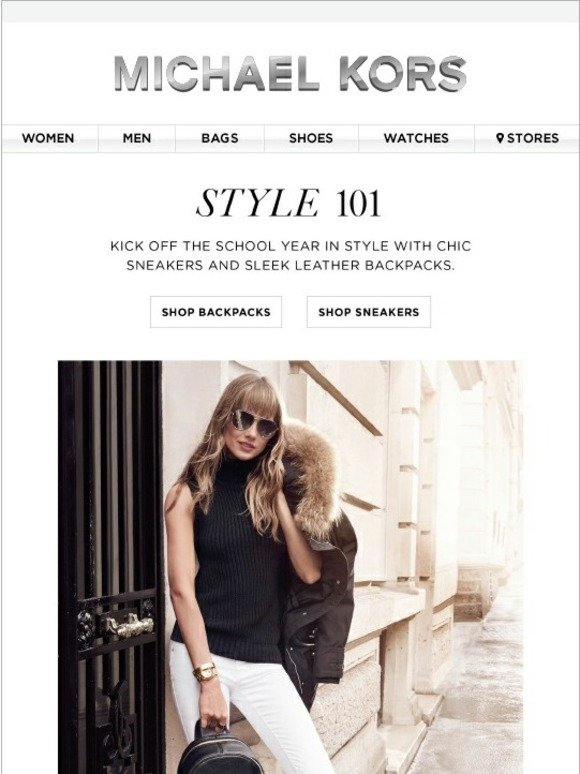 Michael Kors Style 101 Head Back To School In Style Milled