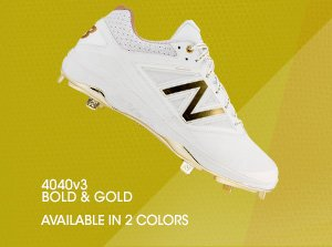 4040v3 new balance cleats white and gold