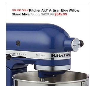 Online Only KitchenAid® Artisan Blue Willow Stand Mixer ...