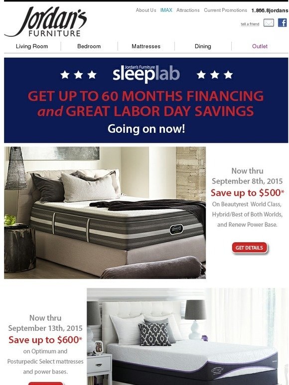 Jordan 39 S Furniture Labor Day Savings At The Jordan S Furniture Sleep Lab Milled