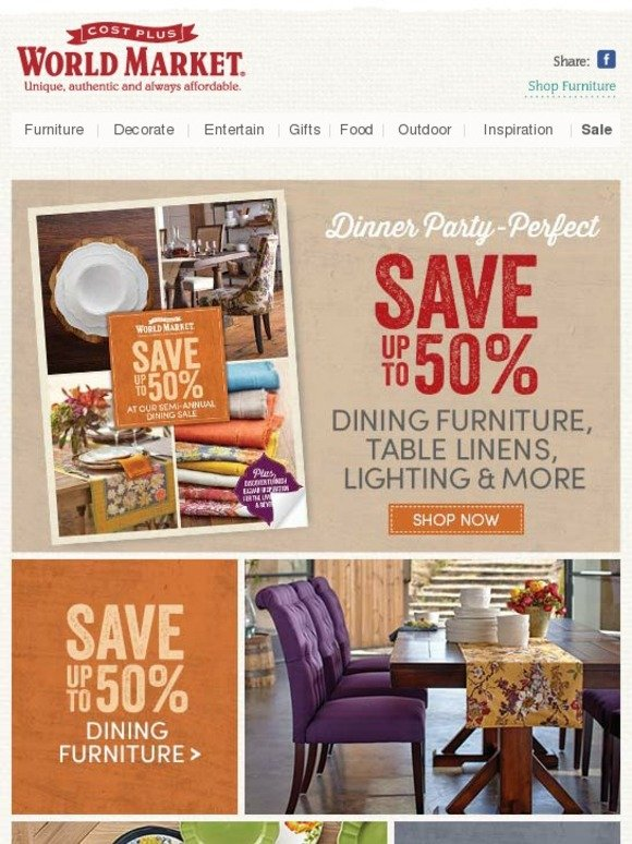 Cost Plus World Market Dining Drama Save Up To 50 In