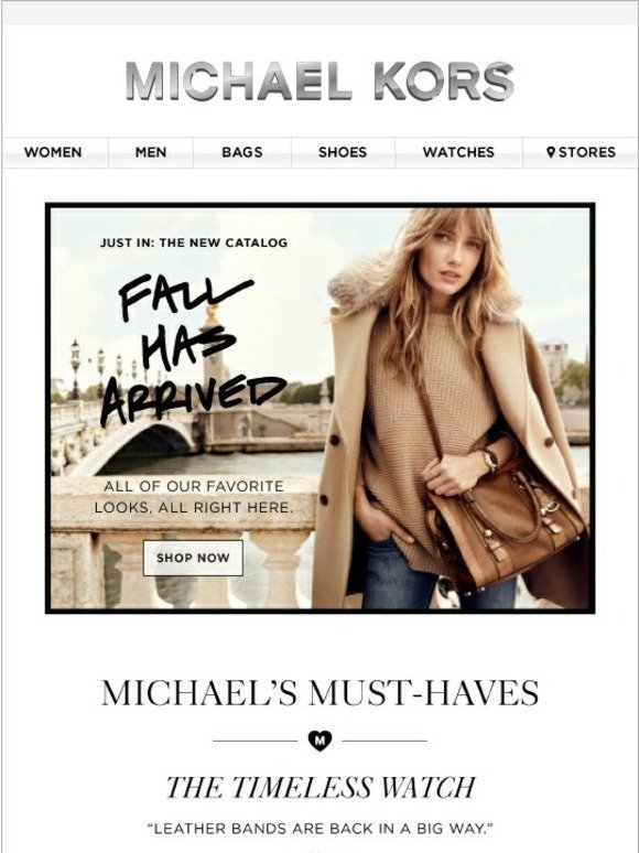 Michael Kors Just In Our Fall Catalog Milled