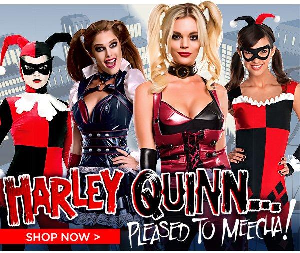 shop harley quinn costumes