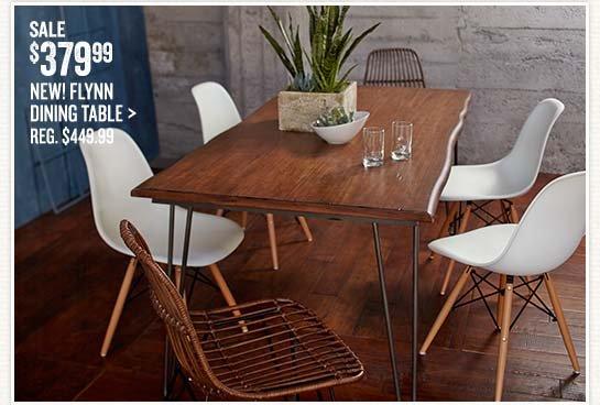 Flynn Dining Table Evie Molded Chair