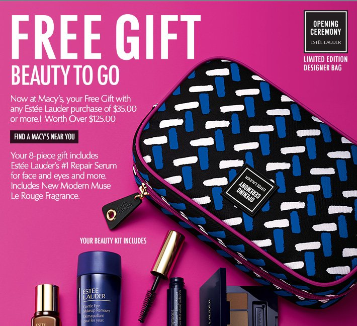 Estée Lauder: Now at Macy's: Free Gift—Beauty To Go. | Milled