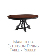 Marchella Extension Dining Table   Antique Ivory