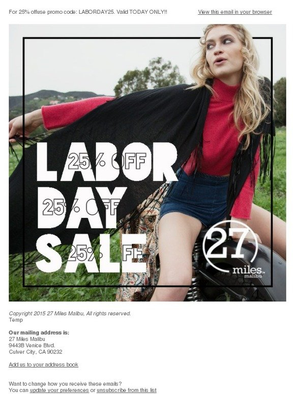 Brandy Melville Usa Labor Day Sale 25 Off Milled