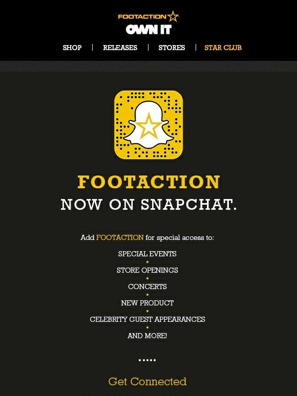 4aa8bc2130df3e Footaction   Footaction Now On Snapchat